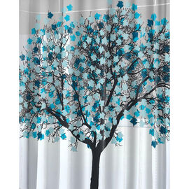 Splash Foliage Shower Curtain - Blue - 70 x 72inch