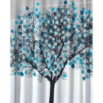 Splash Foliage Shower Curtain - Blue - 70 x 72inch