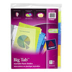 Avery Big Tab Insertable Plastic Dividers - 5-Tab set - 11900