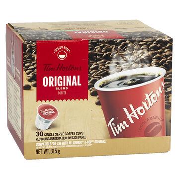 Tim Hortons Original Blend - Single Serve Coffee - 30 Servings