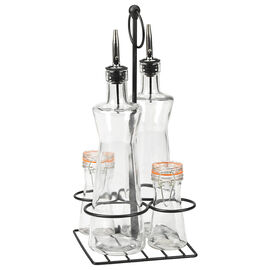 London Drugs Glass Salad Dressing Set and Wire Rack