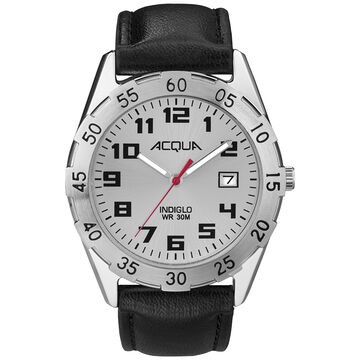 Timex Acqua Analogue Full Size Watch - Silver/Brown - A3C67470