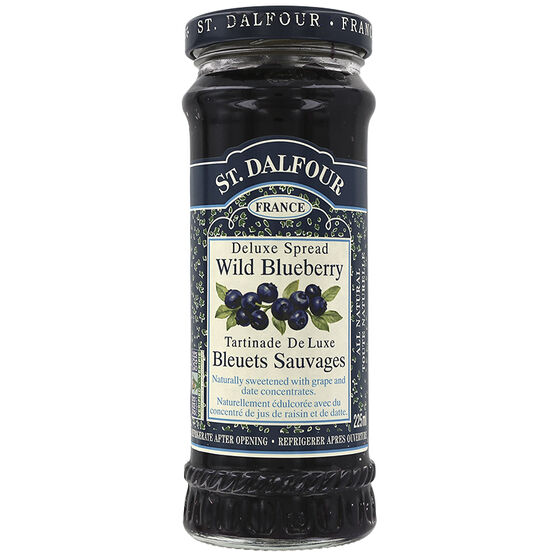 St. Dalfour Deluxe Spread - Wild Blueberry - 225ml