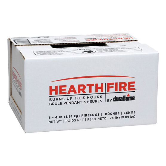 Hearthfire Log Case of 6 - 6 pack - 4 lbs