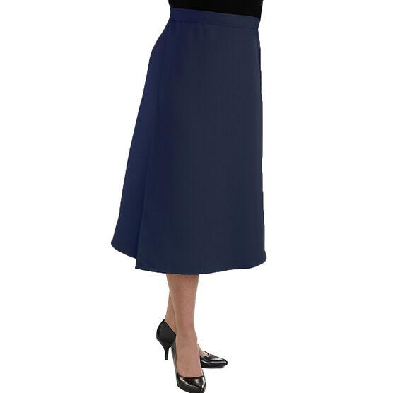 Silvert's Gabardine Wrap Skirt - Navy - Large