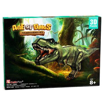 Age of Dinos T-Rex Paper/Foam 3D Puzzle - 36 Pieces