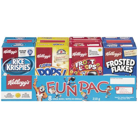 Kelloggs Fun Pack Cereal - 210g