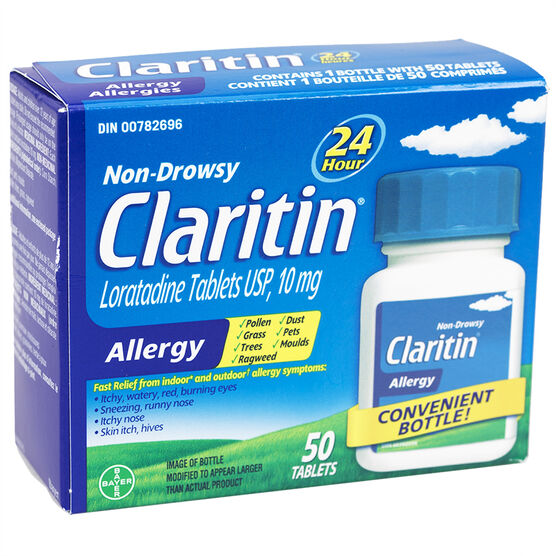 Claritin Non Drowsy 24 Hour Allergy - 10mg - 50 Tablets