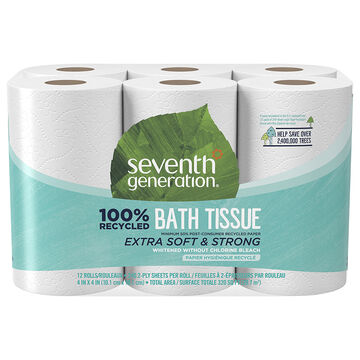 Seventh Generation Bathroom Tissue - 12's