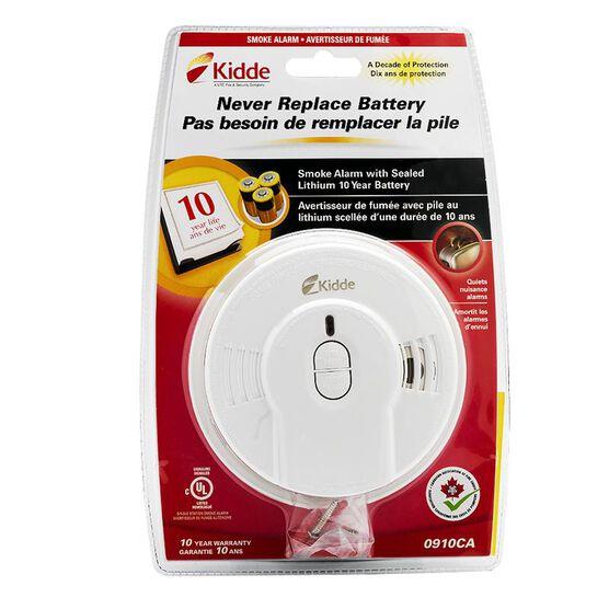 Kidde 10 Year Tamper-Proof Smoke Alarm with Hush Button - 0910CA