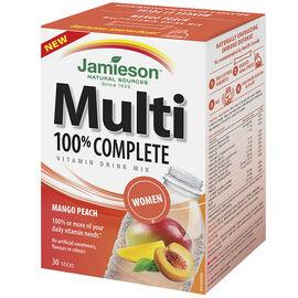 Jamieson Multi 100% Complete Vitamin Drink Mix Women's - Mango Peach - 30's