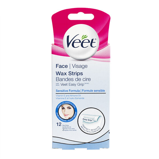 Veet Ready to Use Facial Wax Strips - Sensitive Formula - 12's