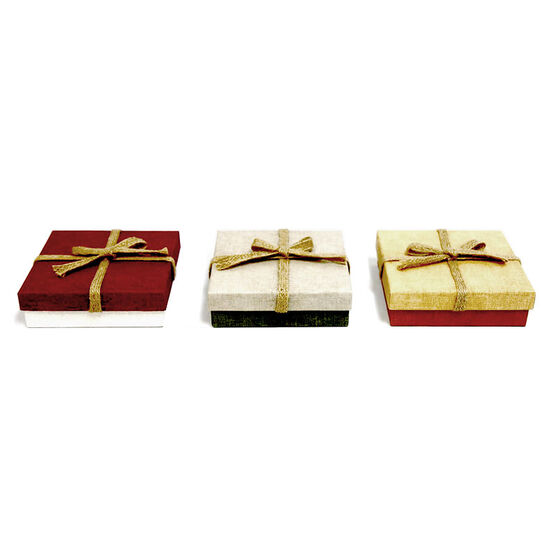 Christmas Specialty Square Boxes - Small - 1403 - Assorted
