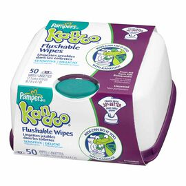Kandoo Flushable Toilet Wipes - Sensitive- 50's/Tub