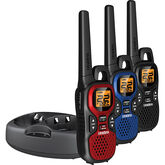 Uniden GMRS 3 Pack Radio Kit - Black/Red/Blue - Factory Reconditioned - GMR37403CKRB
