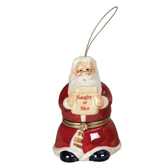 Porcelain Music Box - Santa