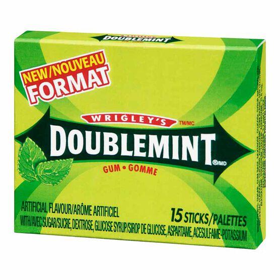 Wrigley's Doublemint Gum - 15 Sticks