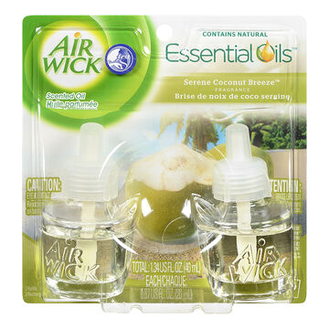 Air Wick Scented Oil Refill - Serene Coconut Breeze - 2x21ml