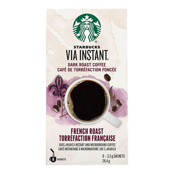 Starbucks VIA French Roast Coffee - 8 pack - 92987