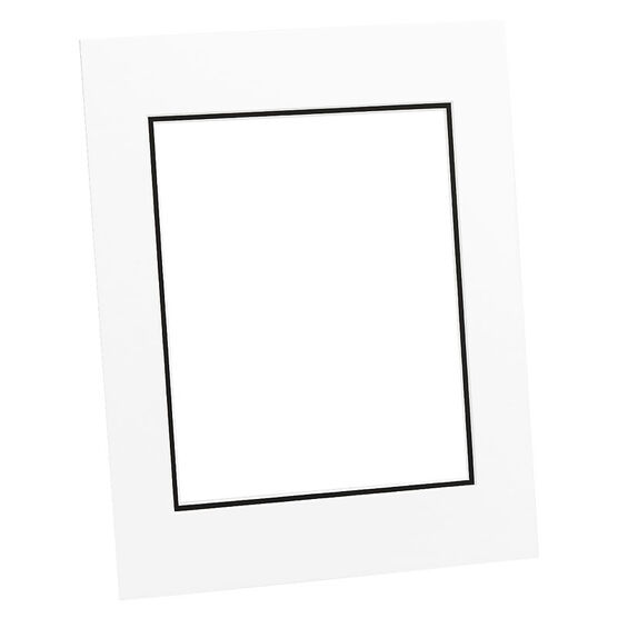 Tempo 11x14 Mat Frame - White/Black