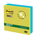 3M Post-It Super Sticky Recycled Notes - 3 Pads Per Pack