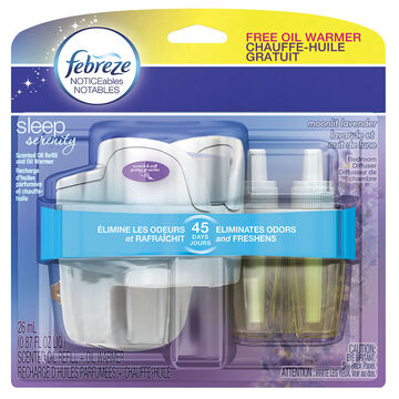 Febreze Noticeables Sleep Serenity Bedroom Diffuser Kit - Moonlit Lavender - 1 kit
