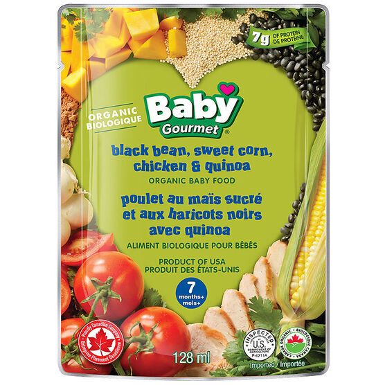 Baby Gourmet Baby Food - Black Bean, Sweet Corn, Chicken and Quinoa - 128ml