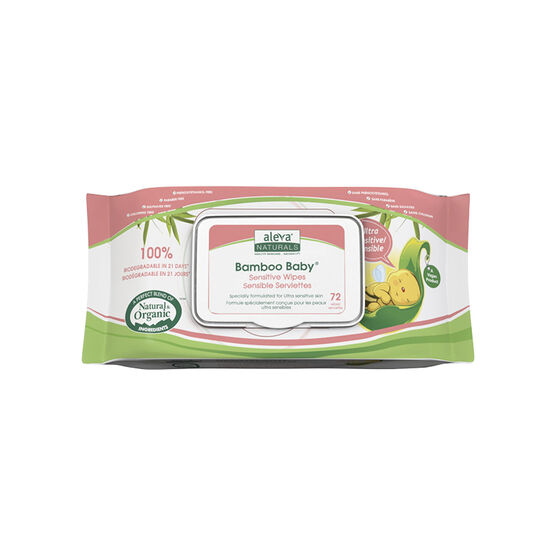 Bamboo Baby Wipes - Ultra Sensitive - 72's