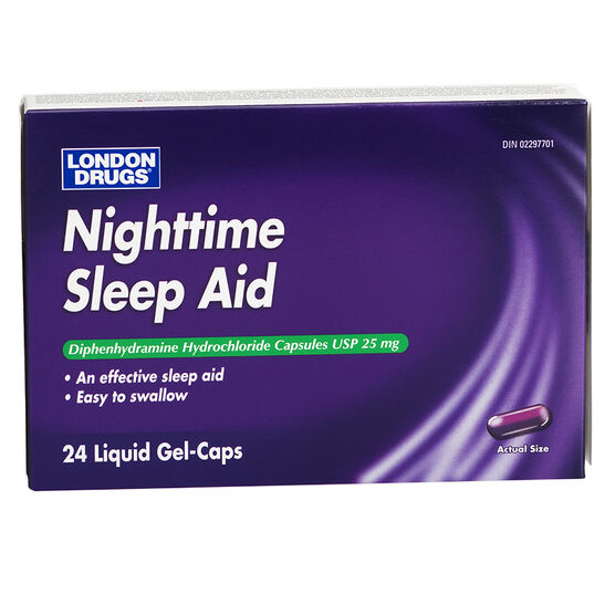 London Drugs Nighttime Sleep Aid - 25mg - 24's