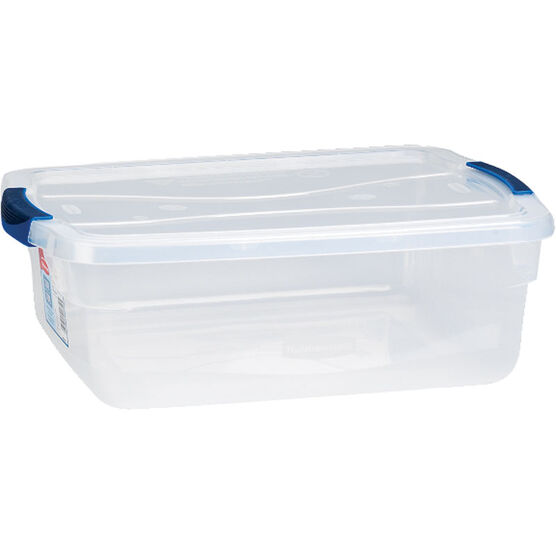 Rubbermaid Clever Store Latch Box - Clear - 14L