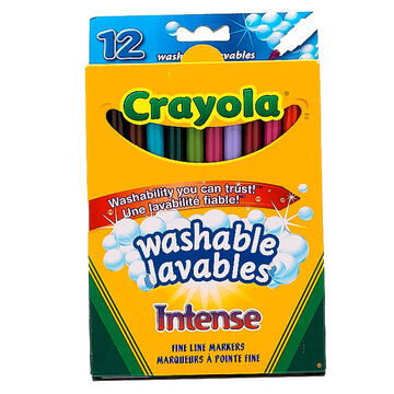 Crayola Intense Washable Markers - Thin Tip - 12's