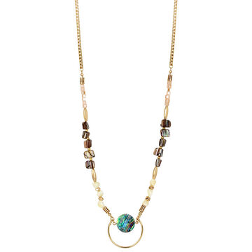 Haskell Beaded Mid Necklace - Neutral/Gold
