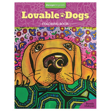 Lovable Dogs Colouring Book