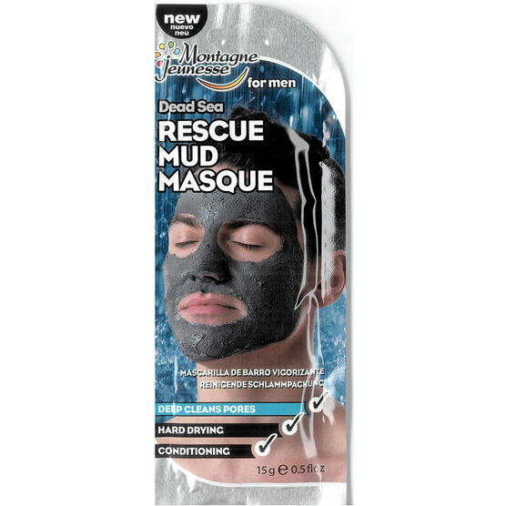 Montagne Jeunesse for Men Dead Sea Rescue Mud Masque - 15g