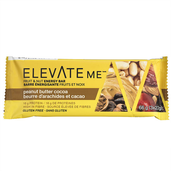 Elevate Me Fruit & Nut Energy Bar - Peanut Butter Cocoa - 66g