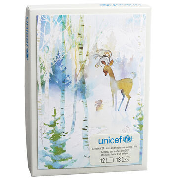 Unicef Christmas Cards - Deer and Bunny - 12 pack