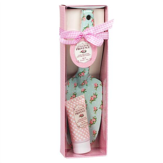 Les Fleurs de Provence Spade & Hand Cream Set - Rose