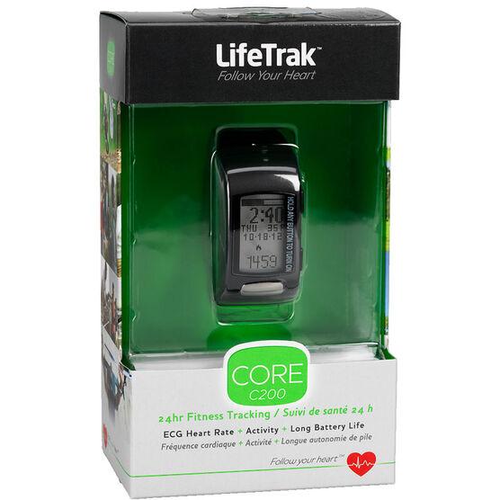 LifeTrak Core C200 Fitness Tracking Watch - Black White - LTK7C2007