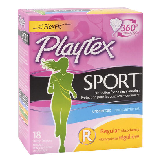 Playtex Sport Tampons - Regular - Unscented - 18's