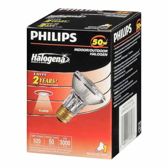 Philips 50W Par 20 Halogena Light Bulb - 160036