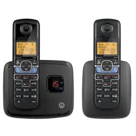 Motorola 2 Handset Bluetooth Cordless Phone - Black - L702BT