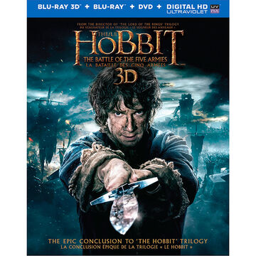 The Hobbit: The Battle of the Five Armies 3D - Blu-ray 3D + Blu-ray + DVD + Digital HD