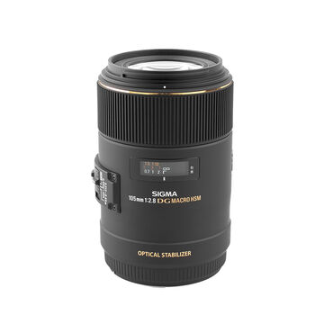 Sigma EX DG 105mm F2.8 Macro HSM Optical Stabilized Lens for Canon
