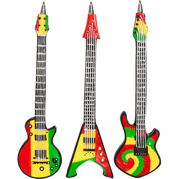 Hand Painted Guitar Pens - Assorted