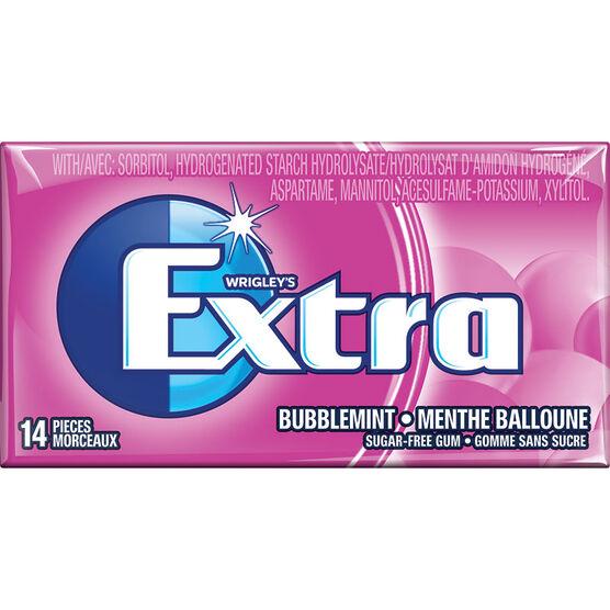 Wrigley Extra Gum - Bubblemint - 14 piece