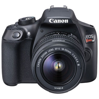 Canon Rebel T6 with 18-55mm DC III Lens - Black - 1159C006
