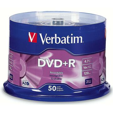 Verbatim DVD+R 4.76GB 16X - 50 pack - 95037