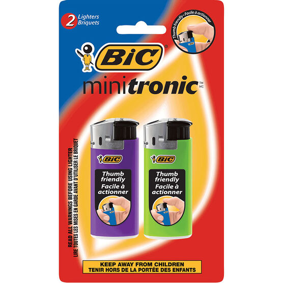 BIC Minitronic Lighter - 2 Pack