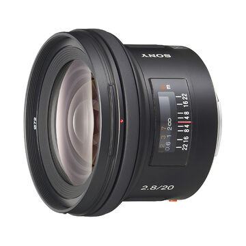 Sony - 20mm f/2.8 Wide Angle Lens for Alpha DSLR - SAL20F28
