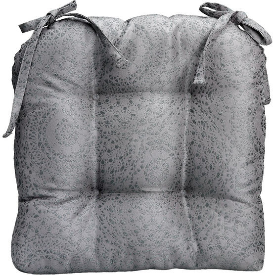 London Drugs Brocade Chair Pad - Grey